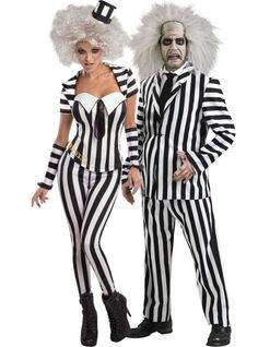 sassy beetlejuice and beetlejuice couples costumes party city