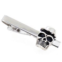 Skull With Top Hat Tie Clip - Fantasyard Costume Jewelry & Accessories