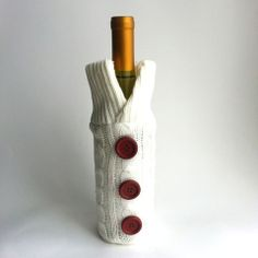 WINE SWEATER, WINE SLEEVE, WINE BOTTLE COVER, WINE LOVER GIFT IDEA - annasee