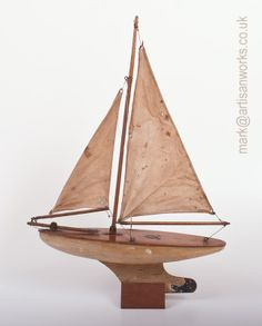 """A rare pre-war 14"""" Pond Yacht from the Star Yacht works in Marion Street, Birkenhead, England. Circa - 1934"""
