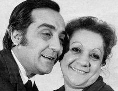Türkiye'nin ünlü kardeşlerinden ikisi Adile Naşit ve Selim Naşit Özcan.