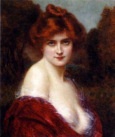"""A Beauty"" by Abbey Alston (1864-1949)."