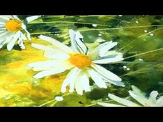 Daisy Backgrounds (Part2 ) - Watercolour Lesson by Sian Dudley - YouTube