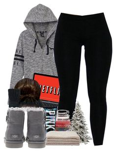 """Untitled #530"" by b-elkstone ❤ liked on Polyvore featuring Victoria's Secret PINK, Aéropostale, Yankee Candle and UGG Australia"