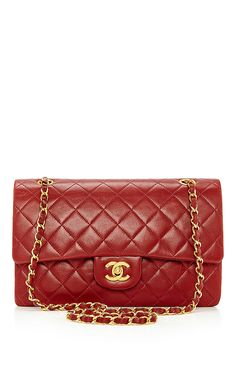 "Chanel Red Lambskin 2.55 10"" by What Goes Around Comes Around for Preorder on Moda Operandi"