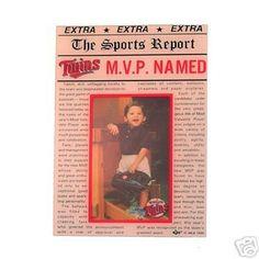 Minnesota Twins Baseball Mvp Newspaper Picture Frame route 66 sports http://www.amazon.com/dp/B001G0DHCQ/ref=cm_sw_r_pi_dp_Fw90vb1HWMV50