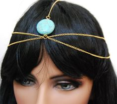Head Chain - Gold tone with turquoise bead Arras Creations http://www.amazon.com/dp/B00C9S1514/ref=cm_sw_r_pi_dp_V7-1tb0XQXDMK22Z