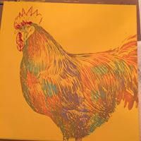 Rooster on Canvas by ChalkDesignsbyDonna on Etsy