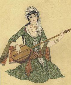 Türk İslam Sanatları - turkishislamicarts.com Middle Eastern Clothing, Arabian Art, Turkish Art, Arabian Nights, Indian Paintings, Islamic Art, Indian Art, Traditional Art, Art Inspo