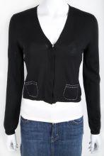 NWT Akris Punto Black Cropped Sweater Size 6 $209.00