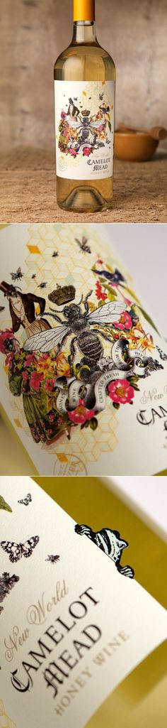 The Unique Collage of Camelot Mead Honey Wine — The Dieline | Packaging & Branding Design & Innovation News