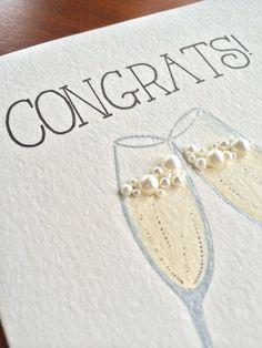 Items similar to Congratulations congrats wedding Wedding Anniversary Cards, Wedding Cards, Cute Cards, Diy Cards, Holiday Cards, Christmas Cards, Engagement Cards, Wedding Engagement, Karten Diy