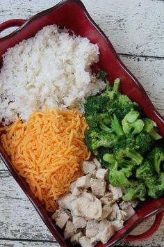 Cheesy Broccoli Chicken Rice Freezer Meal