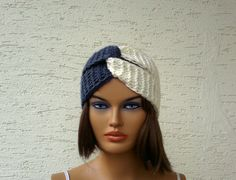 Turban headband ear warmer knit headband chunky by KnitterPrincess, $16.00