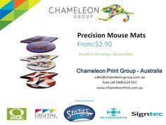 Precision Mouse Mats - Chameleon Print Group  http://chameleonprint.com.au/product/precision-mouse-mats/