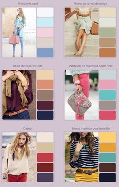 =>I adore this stunning fashion pictures! Colour Combinations Fashion, Color Combinations For Clothes, Fashion Colours, Colorful Fashion, Color Combos, Color Matching Clothes, Matching Outfits, Wardrobe Color Guide, Mode Rose