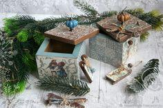 Коробок с сюрпризом от мышки Веры. Декупаж – заказать на Ярмарке Мастеров – IHDDDRU | Банки, Химки Christmas Decoupage, Gift Wrapping, Gifts, Paper Wrapping, Wrapping Gifts, Gift Packaging, Favors, Presents, Gift