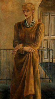 Juan Soriano. Retrato de Elena Garro, 1948, Oleo sobre tela, 123 x 69 cm.