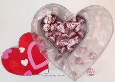 Recycled Soda Bottle Heart Shaped See-thru Box