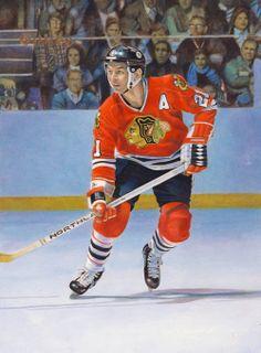 "Chicago Black Hawks Stanislav ""Stan"" Mikita, by Chuck Gillies"