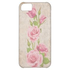 Elegant  vintage roses flower iPhone 5 case