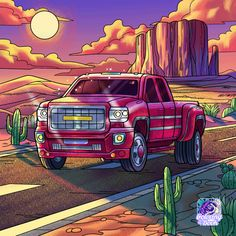 Gmc Pickup Trucks, Coloring Books, Car, Vehicles, Painting, Colorful, Vintage Coloring Books, Automobile, Painting Art
