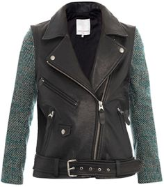 #Matchesfashion  Moto Tweed And Leather Jacket by Opening Ceremony  Lust/Love NEED