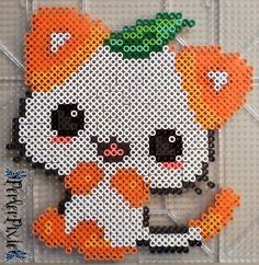 After making the Purple Kitty, I've decided to make more kitty cat perlers!  Links to the other kitty cats!  ~Pink Strawberry Kitty - fav.me/d8xw84q ~Green Kitty - fav.me/d8x63w...