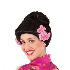 Geisha Wig With Flowers dazzle-dancewear.co.uk
