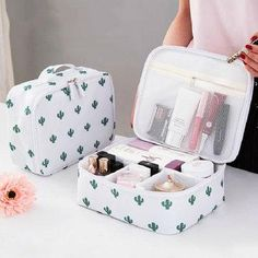 Favorable Travel Waterproof Storage Bag Wash Cosmetic Bag Portable Makeup Storage Case - NewChic Mobile Source by photossarahb Bags Diy Organizer, Organizer Makeup, Diy Bag Organiser, Makeup Storage Case, Makeup Case, Bag Organization, Bag Storage, Organizers, Makeup Storage Travel