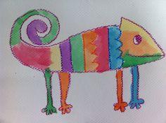 Parent Art Docents: Chameleon Art