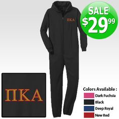Fraternity Onesie Pajamas with Embroidery $29.99 #sale #greek #apparel #pjs