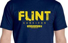 Flint Michigan Survivor T-shirt by hamiltonartsdesign on Etsy
