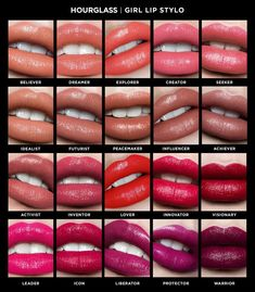 Shop Hourglass' Girl Lip Stylo at Sephora. The intense lip color is infused with a blend of hydration for the appearance of softer, fuller lips. Lip Gloss Colors, Lip Colors, Basic Makeup Tutorial, Eyeliner Tutorial, Hourglass Makeup, Girls Lips, Kissable Lips, Dry Lips, Makeup Dupes