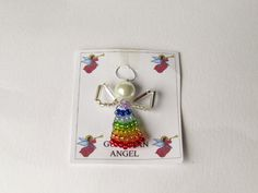 Irish Beaded Angel.Gift for a by DelabudCreations on Etsy