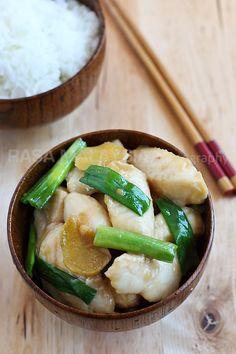 Ginger and Scallion Fish | Ginger and Scallion Fish Recipe (姜葱鱼片) | Easy Asian Recipes at RasaMalaysia.com