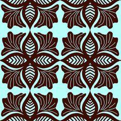choc flower fabric by reen_walker on Spoonflower - custom fabric