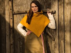 Lene Lorentzen is raising funds for The Viking Hood - Alive and Kicking! I create authentic and sustainable clothing inspired by viking age where heritage meets modern playful lifestyle! Viking Hood, Norwegian Fashion, Nordic Fashion, Viking Reenactment, Viking Garb, Viking Life, Viking Woman, Viking Culture, Viking Clothing