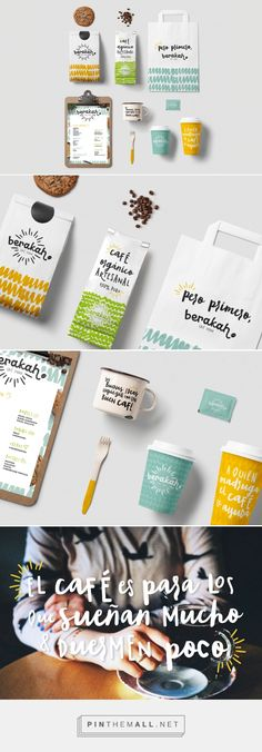 Branding, graphic design and packaging for BERAKAH Café Studio on Behance by Lizzy Cantú Monterrey Mexico curated by Packaging Diva PD. Branding for Berakah Café Studio in Monterrey, México.