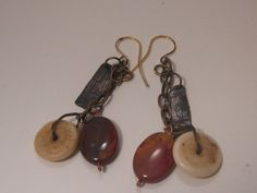 Handmade Fire Painted Copper Antique Bone and by artintheredwoods, $29.00