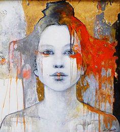The Background and the use of color. the art room plant: Joan Dumouchel L'art Du Portrait, Abstract Portrait, Art Visage, Figurative Kunst, Kunst Online, Art Watercolor, Inspiration Art, Art Abstrait, Art Design