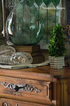 Antique French Buffet Vignette by shirleystankus, via Flickr