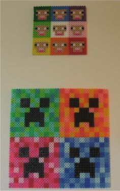 Minecraft Perler Series Sheep and Creeper perler beads by ~miss-j-bean on deviantART