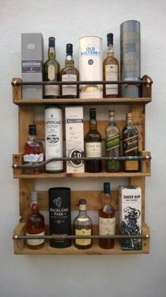 Whisky Rack Shelf, Upcycled Pallet / Crate Handmade Vintage Shabby Chic Kitchen in Home, Furniture & DIY, Cookware, Dining & Bar, Bar & Wine Accessories | eBay #shabbychichomesrustic
