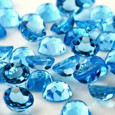Your place to buy and sell all things handmade Meaning Of Blue, Divine Light, Stones And Crystals, Blue Stones, Healing Stones, Princess Cut, Diamond Shapes, Topaz, Crystals