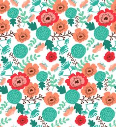 Katie's Sketchbook: Another cold winter day, another floral pattern.