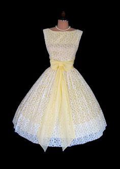 Sweet Ivory Lace Lemon Yellow Chiffon Cocktail Party Prom Wedding Dress