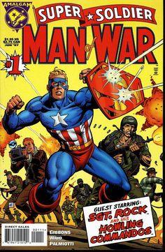 Capitán América + Superman (Amalgam) - ¿Y si combinamos los personajes de Marvel y DC? En 1996 Marvel y DC Comics decidieron unir fuerzas en un cross over que dejaría un legado para futuras generaciones: Amalgam Comics. El argumento de esta serie editorial única en su estilo versa en torno a la fusión de los dos universos de personajes más exitosos en el mundo del cómic. Así es como pudimos descubrir creaciones impensadas como Dark Claw (Batman y Wolverine), Spiderboy (Spiderman y Robin) y…