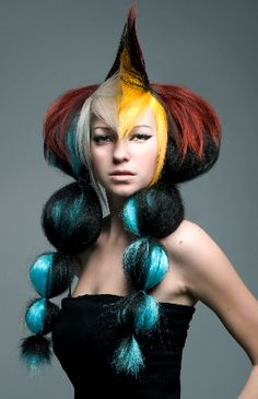 Holy Crazy hair. Photo from www.beautyschools... #Style Don't try this at home, LOL!