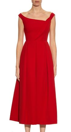 Preen by Thornton Bregazzi red Finella midi dress aso Kate Middleton